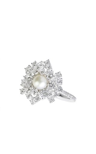 18K Gold One Pearl Ring