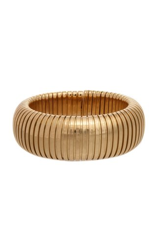 18K Yellow Gold Domed Cuff