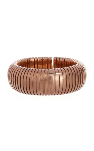 18K Rose Gold Domed Cuff