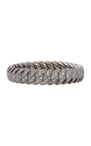 18K White Gold Wave Link Bracelet