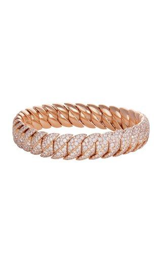 18K Rose Gold Wave Link Bracelet