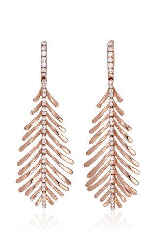 18K Rose Gold Plume Earrings