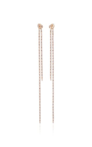 18K Yellow Gold Long Knot Earrings
