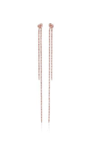 18K Rose Gold Long Knot Earrings