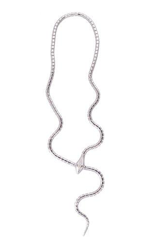 18K White Gold Wrap Around Necklace