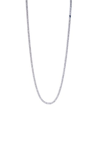 18K White Gold Grey Diamond Rope Necklace