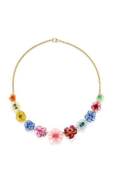 One-Of-A-Kind Bespoke Tropical Flower Necklace