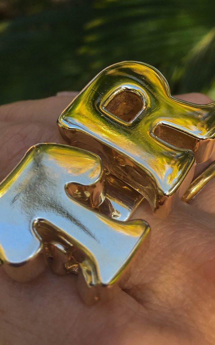 Bespoke Bronze Initial Ring