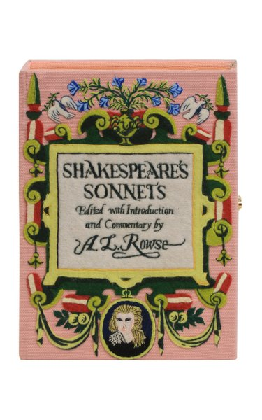 Shakespeare's Sonnets Customizable Book Clutch