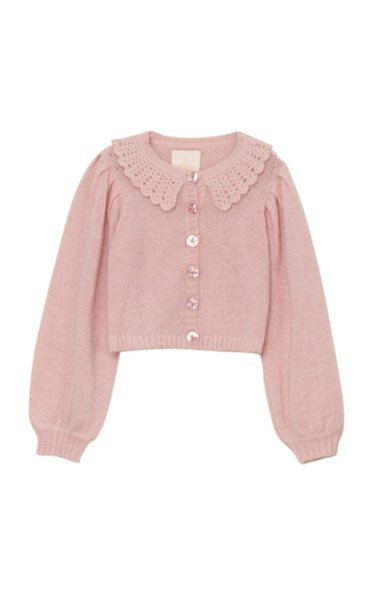Wool-Mohair Knit Cardigan