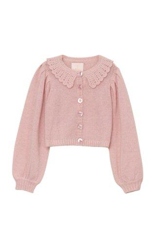 Wool-Mohair Knit Cardigan