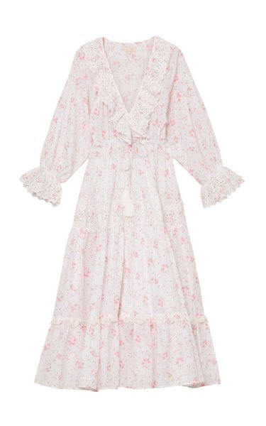Floral Cotton Slub Maxi Dress