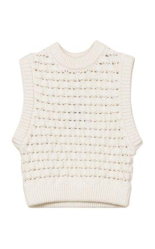 Oversized Cotton-Knit Sweater Vest
