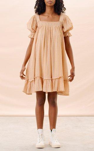 Seersucker Babydoll Mini Dress
