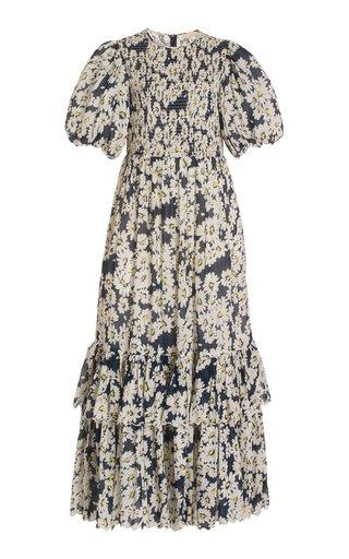 Dobby Seersucker Maxi Dress