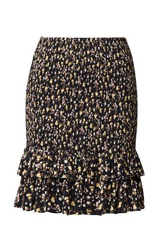 Smocked Eco-Woven Mini Skirt