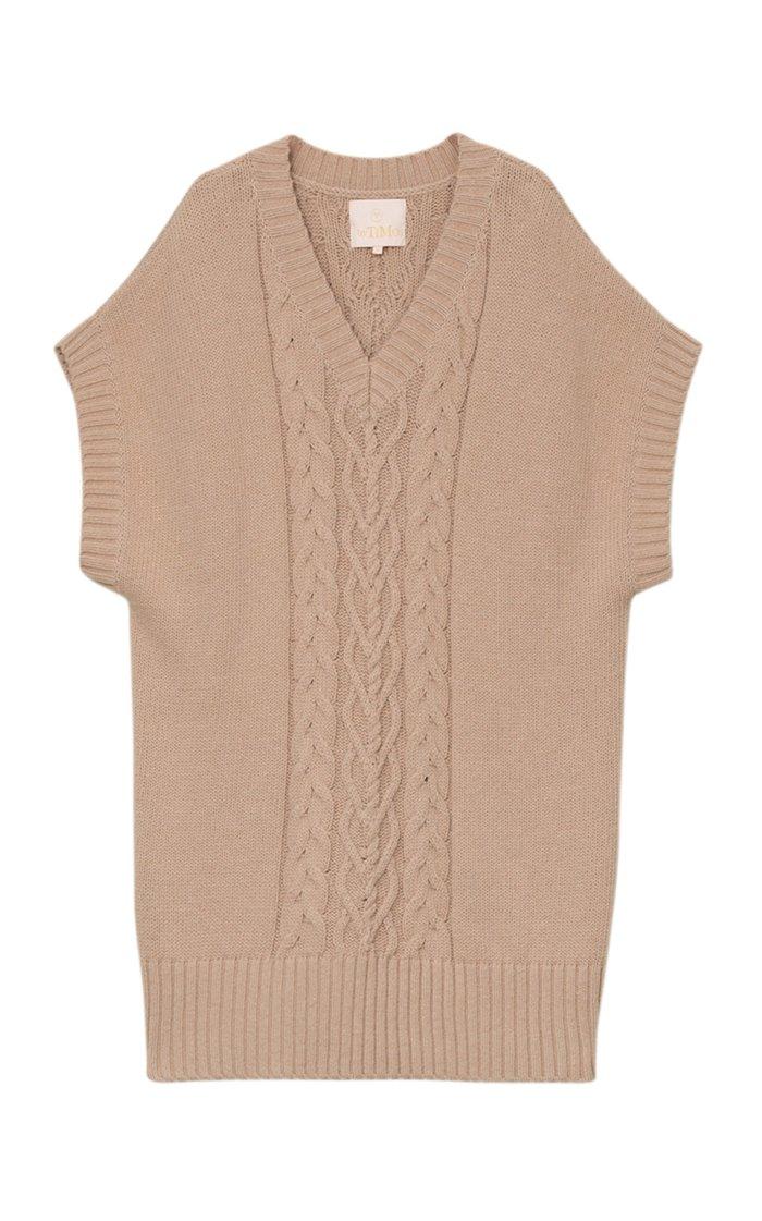 Cable-Knit Cotton Mini Dress