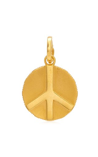 Buddha Mama Peace Sign Coin Charm