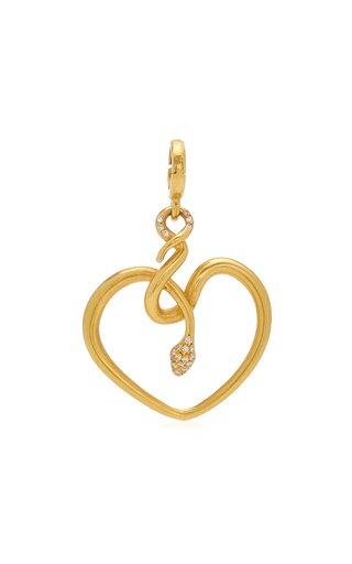 Christina Alexiou Snake Heart Charm