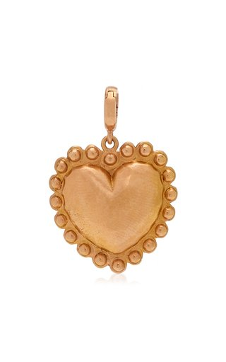 Christina Alexiou Small Heart Charm with Circle Boarder