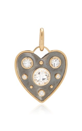 Elie Top La Dame Du Lac Small Heart Charm