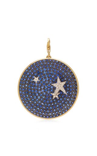 Elena Votsi Large Night Sky Charm with Diamond Stars & Sapphires