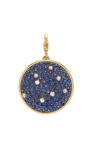 Elena Votsti Small Night Sky Star Charm with Diamond Stars & Sapphires