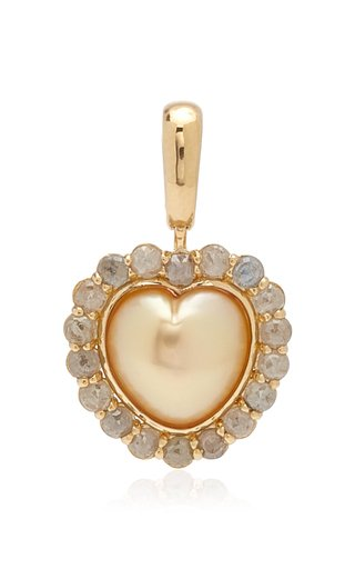 Guita M Reversable South Sea Pearl Heart Charm