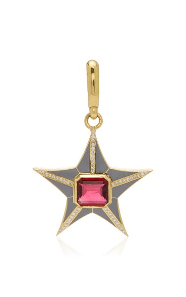 Jenna Blake Star Charm with Grey Enamel