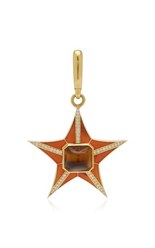 Jenna Blake Star Charm with Orange Enamel