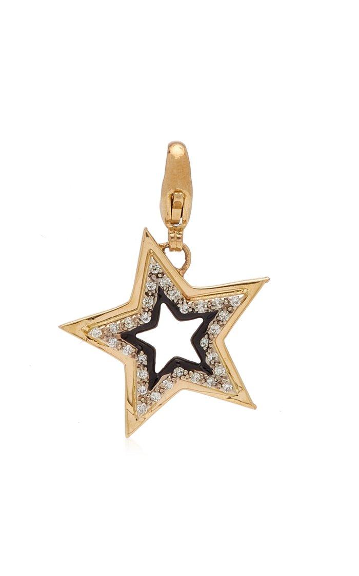 Kwit Stardust Charm with Diamonds & Black Enamel