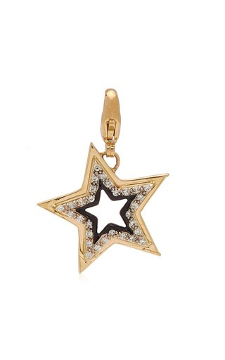 Kwit Stardust Charm with Diamonds & Black Enamel