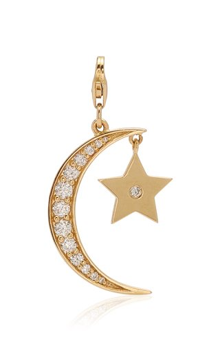 Nancy Newberg Star & Moon Charm