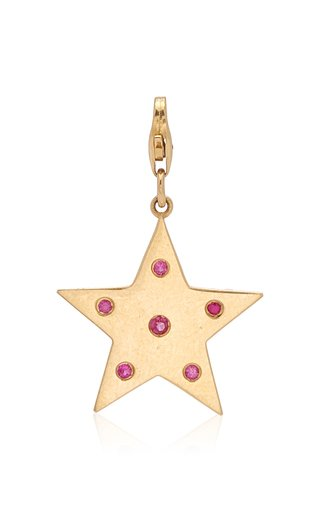 Nancy Newberg Star Charm with Pink Sapphires