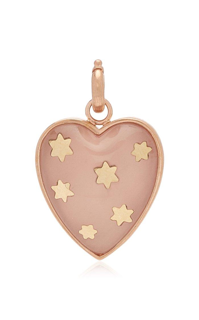 "Storrow ""Anna"" Rose Quartz Heart Charm"