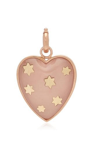 "Storrow ""Anna"" Rose Quartz Heart Charm"