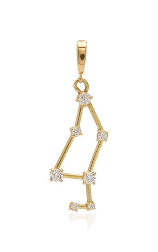 Tara Hirshberg Leo Zodiac Charm with White Diamonds