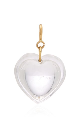 Ten Thousand Things Cut Crystal Heart Charm