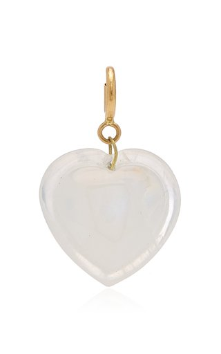 Ten Thousand Things Cut Moonstone Heart Charm