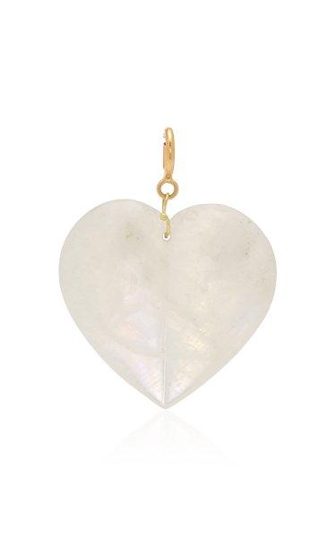 Ten Thousand Things Extra-Large Split Moonstone Heart Charm