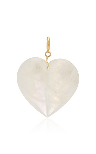 Ten Thousand Things Extra-Large Split Moonstone Heart Charm