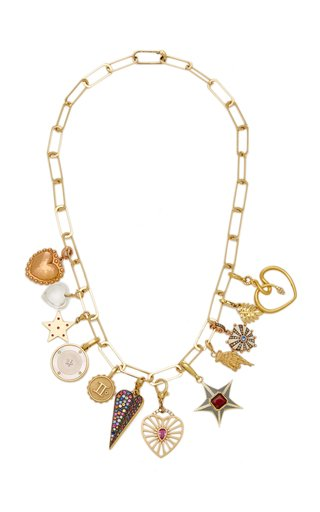 Laura Brown Heart Charms Necklace