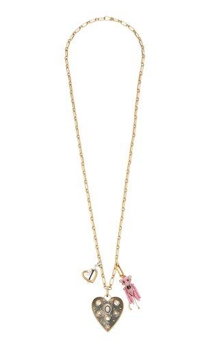 Carmen Busquets Heart Charms Necklace