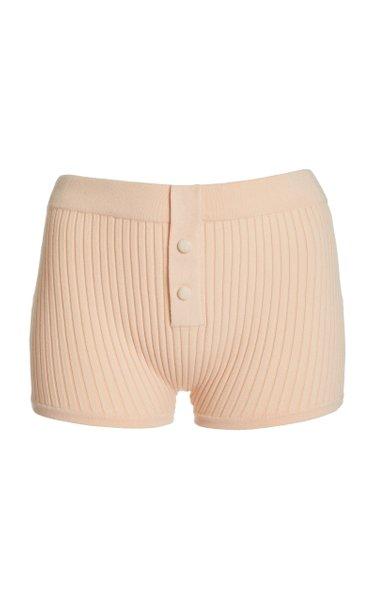 Ribbed-Knit Boy Shorts