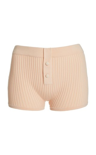 Ribbed-Knit Boy Shorts
