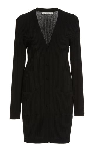 Ribbed-Knit Mini Robe Cardigan
