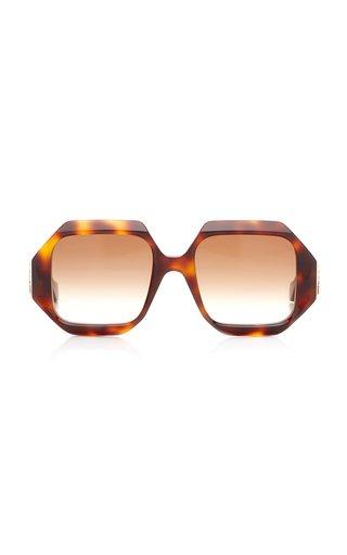 Oversized Square-Frame Acetate Sunglasses