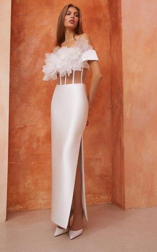 Cutout Satin Corset Dress