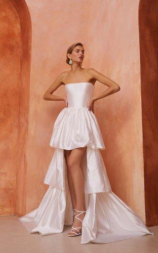 Ruffled Silk Corset Gown