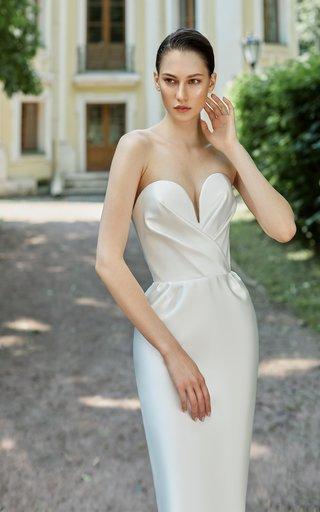 Draped Satin Corset Dress